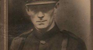 Nessa O'Mahony's grandfather Michael McCann in his Free State army uniform
