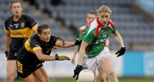Cora Staunton in action for Carnacon. Photograph: Oisín Keniry/Inpho
