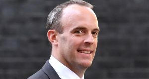 Brexit secretary Dominic Raab has ruled out a second referendum but Lord John Kerr's report says it is possible. Photograph: Facundo Arrizabalaga
