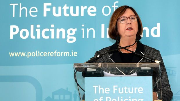 Commission on the Future of Policing in Ireland of Commission chair Kathleen O'Toole: for reform, the Government must resist negative lobbying by institutional and vested interests. Photograph: Commission on the Future of Policing in Ireland/PA