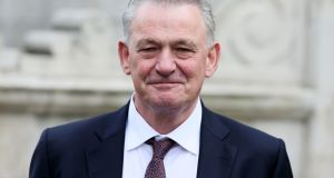 Presidential hopeful Peter Casey at City Hall in Dublin last week. Photograph: Brian Lawless/PA Wire