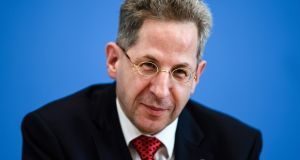 Hans-Georg Maassen: Germany's domestic intelligence chief has been moved from his post after questioning the authenticity of a video appearing to show  a vigilante attack.  Photograph: Clemens Bilan/EPA
