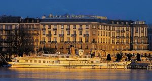 Luxury Geneva hotel, the Beau-Rivage, where top suites are advertised for €3,000 a night