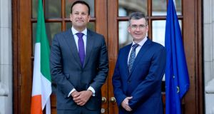 Taoiseach Leo Varadkar and Garda Commissioner Drew Harris. Photograph: Maxwellphotography.ie
