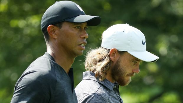 Tommy Fleetwood and Tiger Woods are the marquee pairing at this week's Tour Championship. Photograph: Gregory Shamus/Getty