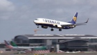 Storm Ali causing problems for aircraft landing at Dublin Airport