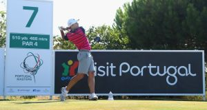 Sergio Garcia practices  ahead of the Portugal Masters. Photograph:  Warren Little/Getty Images