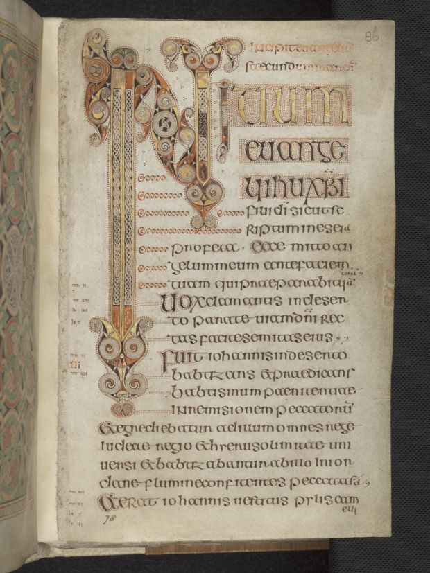 Detail of page from the Book of Durrow. Photograph: Trinity College Dublin.