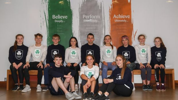 Members of the Irish Youth Olympic at the Irish Institute of Sport in Abbotstown, Dublin. Photograph: Eóin Noonan/Sportsfile