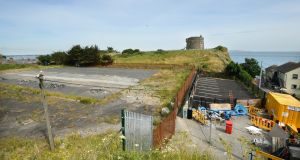 Site at Howth where a proposed housing development, in an area beside the Martello tower, has been given planning permission. File photograph: Dara Mac Dónaill