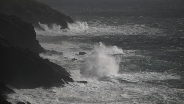 Rough seas seen from Slea Head during Storm Ali in Coumeenoole, Co Kerry, on Wednesday. Photograph: Clodagh Kilcoyne/Reuters