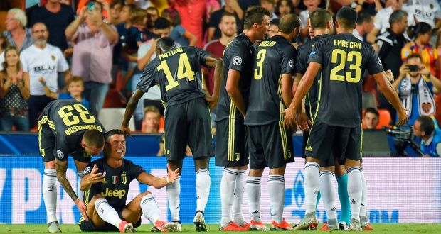 42e45c9a309 Juventus  Cristiano Ronaldo reacts after receiving a red card during his Champions  League debut for