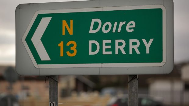 Even for nationalist non-speakers bilingual road signs are an important cultural signifier. File photograph: Peter Macdiarmid/Getty Images