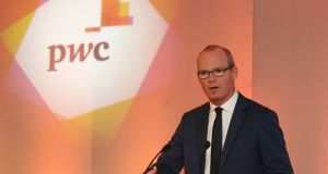 Tánaiste Simon Coveney at the PwC/Irish Times tax summit  at the Intercontinental Hotel in Ballsbridge, Dublin.  Photograph: Nick Bradshaw