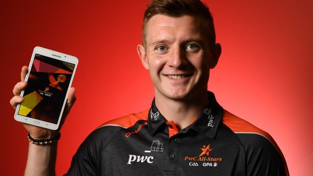 Joe Canning at the recent launch the official PwC All-Star Fan Engagement app. Photograph: David Fitzgerald/Sportsfile
