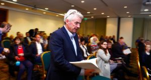 Ryanair chief executive Michael O'Leary at the company's agm. Photograph: Cyril Byrne