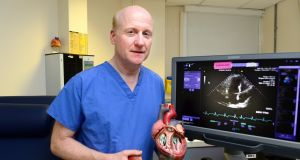 Prof Vincent Maher in the cardiology unit of Tallaght Hospital. Photograph: Cyril Byrne/The Irish Times