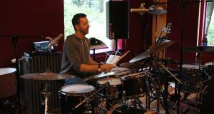 Mike Johnston at the 21 Drums drum camp in Grouse Lodge recording studios, Co Westmeath. Photograph: Glen Murphy