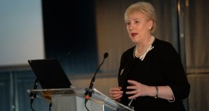 Retail scheme: Minister for Business, Enterprise and Innovation Heather Humphreys at a conference in February. Photograph: Dara Mac Dónaill