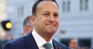 Ireland's prime minister, Taoiseach Leo Varadkar arrives for the informal meeting of European Union leaders in Salzburg, Austria. Photograph: Lisi Niesner/Reuters