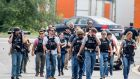 Agents from the US  Bureau of Alcohol, Tobacco, Firearms and Explosives agents on patrol after a shooting in Perryman, Maryland, on Thursday in which a number of people were killed. Photograph: Scott Serio/EPA
