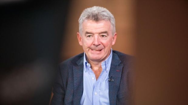 Ryanair: Michael O'Leary at Bloomberg Television for an interview in May this year, when he warned that the airline's profit would slump for the first time in five years. Photograph: Jason Alden/Bloomberg