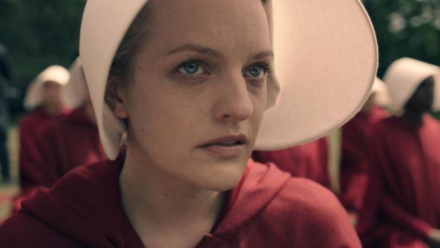 The Handmaid's Tale: Elisabeth Moss in the TV series based on Margaret Atwood's novel