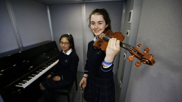 Pupils Sidi Boa and Claire O'Connor at the Nord Anglia International School. Photograph: Nick Bradshaw for The Irish Times