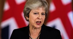 Britain's prime minister Theresa May says it is 'not acceptable' for EU leaders to reject her plan in the absence of an alternative. Photograph:  Reuters
