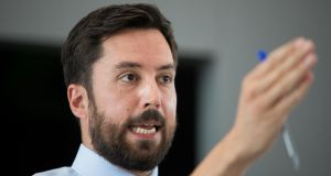 Minister for Housing, Planning and Local Government Eoghan Murphy has urged voters to  to go to their polling station  on  October 26th so they can have their say in the outcome of the blasphemy referendum. Photograph: Tom Honan/The Irish Times.