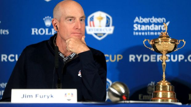 Team USA captain Jim Furyk. Photograph: Adam Davy/PA