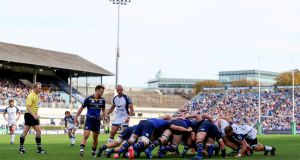Leinster in action against Montpellier in the Champions Cup last year. Photograph: Tommy Dickson/Inpho