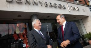 Donnybrook Fair  owner  Joe Doyle with Musgrave chief executive Chris Martin at the company's Donnybrook store.