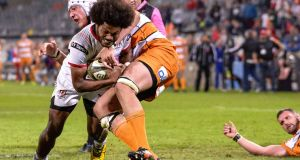 Henry Speight scored Ulster's injury-time try in Bloemfontein. Photograph: Frikkie Kapp/Inpho