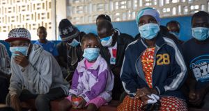 Patients wait to be tested for tuberculosis, at the TB Annex Hospital in Monrovia, Liberia. Photograph: Sally Hayden