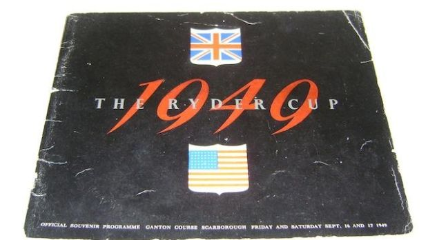 A copy of the event programme from the 1949 Ryder Cup.