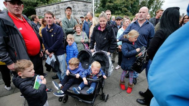 Parents and their children were among the thousands who participated in The Take Back the City group's National Day of Action in Dublin over the housing shortage. Photograph: Nick Bradshaw/The Irish Times