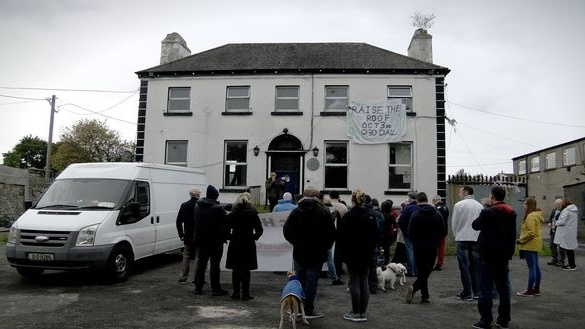 Glebe House in Crumlin Village which was occupied on Friday. Photograph: Kathleen Harris