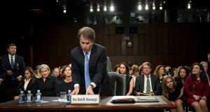 A vote on Judge Brett Kavanaugh's Supreme Court nomination is scheduled for Monday. Photograph: Erin Schaff/The New York Times