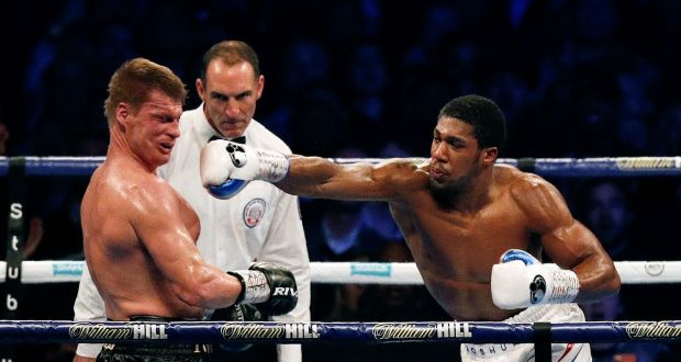 joshua sets new target after clinical win over povetkin