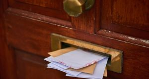 There is nothing pleasing in Conor Pope's letterbox. Photograph: iStock