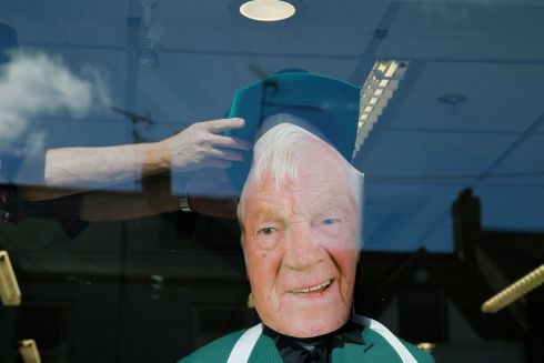 Shop fronts in Castleblayney filled with Big Tom imagery as the 'Big Tom' festival concluded with the unveiling of a statue to the singer. Photo Nick Bradshaw for The Irish Times