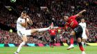 Manchester United's Anthony Martial shooting over   against Wolves at  Old Trafford. Photograph:  Martin Rickett/PA Wire