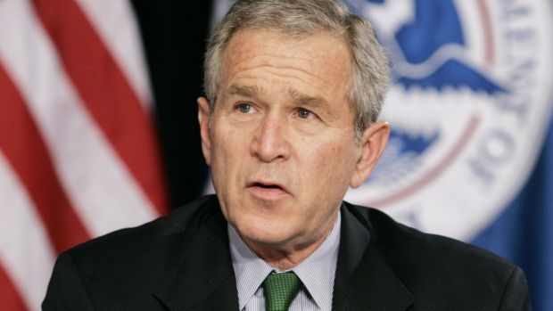 George W Bush issued a stark warning on the US economy.