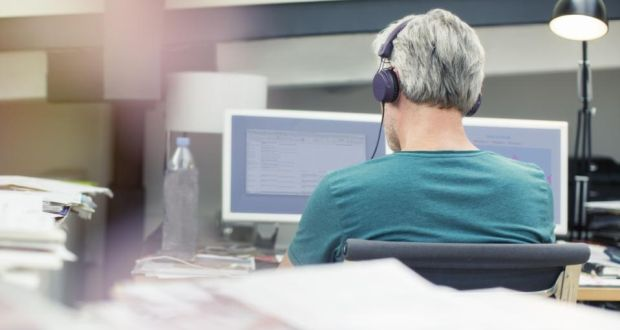 """Today's offices are full of people staring at their screens at open-plan desks with headphones jammed unsociably over their ears to block out noise."""