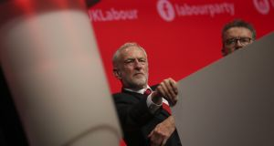 "Jeremy Corbyn said: ""Let's see what comes out of conference. I'm bound by the democracy of our party."" Photograph: Simon Dawson/Bloomberg"