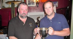 Vintner's competition winner Patrick McCarthy (right) , with secretary Tom Sweeney.