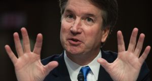 The prospect of a full public hearing into the allegations against Donald Trump's nominee for the Supreme Court has thrown Brett Kavanaugh's elevation to the highest court in the land into doubt.  Photograph: Saul Loeb/AFP/Getty Images