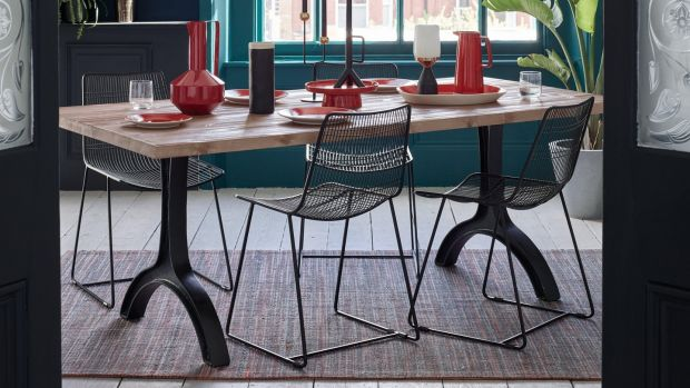 Habitat's Ringo table is a modernist way to rock a rustic look.