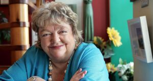 Maeve Binchy at home in Dalkey, Co Dublin,  in September 2006.